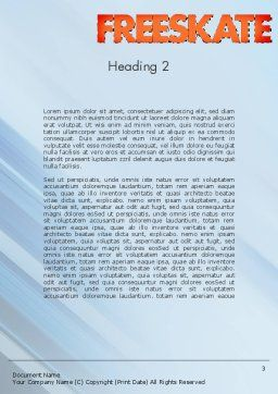 Roller Skate Freestyle Word Template, Second Inner Page, 11469, Sports — PoweredTemplate.com