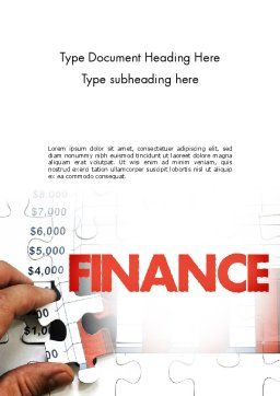 Identifying Trends Word Template, Cover Page, 11470, Financial/Accounting — PoweredTemplate.com