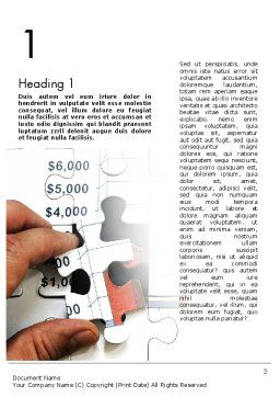 Identifying Trends Word Template, First Inner Page, 11470, Financial/Accounting — PoweredTemplate.com
