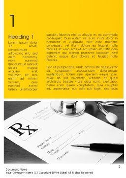 Family Practice Word Template, First Inner Page, 11471, Medical — PoweredTemplate.com