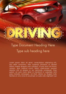 Automotive Design Word Template, Cover Page, 11474, Cars/Transportation — PoweredTemplate.com