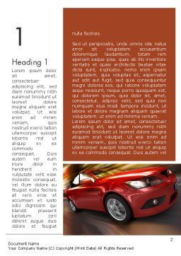 Automotive Design Word Template, First Inner Page, 11474, Cars/Transportation — PoweredTemplate.com