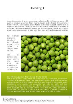 Green Peas Word Template, First Inner Page, 11475, Food & Beverage — PoweredTemplate.com