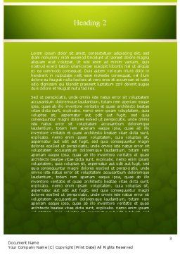 Green Peas Word Template Second Inner Page