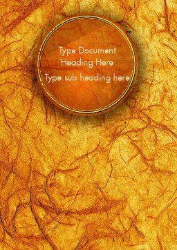 Orange Wall Texture Word Template Cover Page