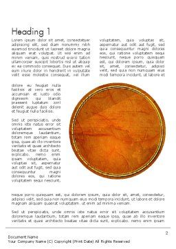 Orange Wall Texture Word Template First Inner Page