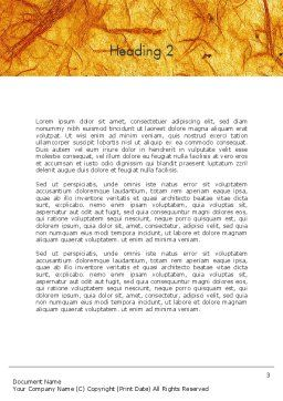 Orange Wall Texture Word Template Second Inner Page