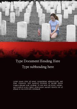 Honoring A Fallen Soldier Word Template, Cover Page, 11479, Religious/Spiritual — PoweredTemplate.com