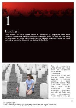 Honoring A Fallen Soldier Word Template, First Inner Page, 11479, Religious/Spiritual — PoweredTemplate.com