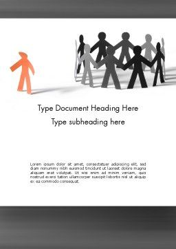 Outcast Person Word Template, Cover Page, 11480, General — PoweredTemplate.com