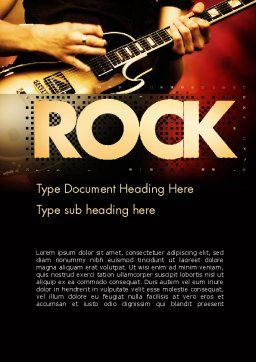 Rock Guitar Word Template Cover Page