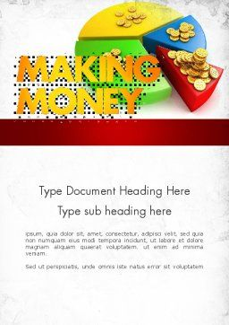 Money Pie Word Template, Cover Page, 11482, Financial/Accounting — PoweredTemplate.com