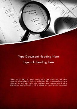 Financial Fraud Research Word Template, Cover Page, 11485, Legal — PoweredTemplate.com