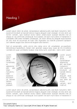 Financial Fraud Research Word Template, First Inner Page, 11485, Legal — PoweredTemplate.com