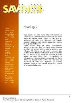 Property Investment Word Template Second Inner Page