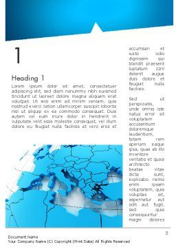 Europe Map Word Template First Inner Page