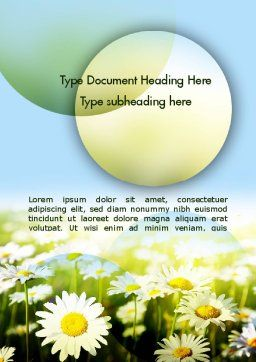 Daisy In The Sun Word Template Cover Page