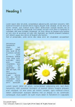 Daisy In The Sun Word Template First Inner Page