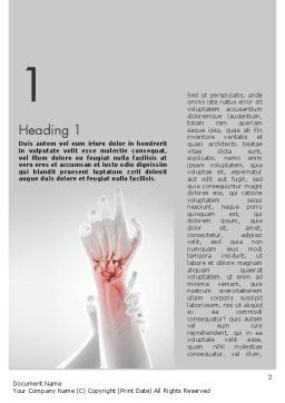 Painful Hands Word Template, First Inner Page, 11490, Medical — PoweredTemplate.com