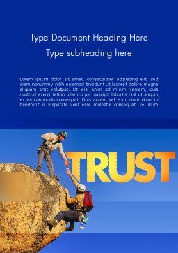 Climbing Team Word Template, Cover Page, 11492, Sports — PoweredTemplate.com
