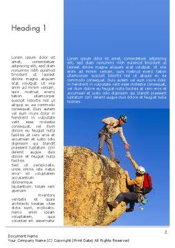 Climbing Team Word Template, First Inner Page, 11492, Sports — PoweredTemplate.com