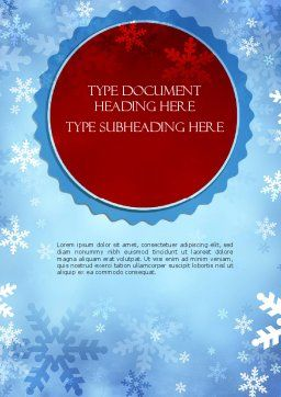 Snowflakes Theme Word Template, Cover Page, 11495, Holiday/Special Occasion — PoweredTemplate.com