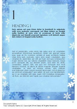 Snowflakes Theme Word Template, First Inner Page, 11495, Holiday/Special Occasion — PoweredTemplate.com