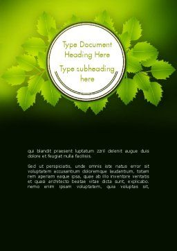 Green Branch Word Template Cover Page
