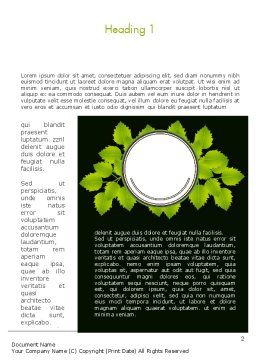 Green Branch Word Template First Inner Page