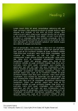 Green Branch Word Template Second Inner Page