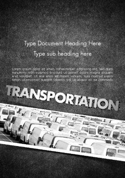 Transportation Services Word Template, Cover Page, 11501, Cars/Transportation — PoweredTemplate.com