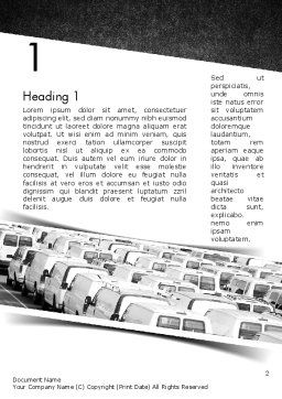 Transportation Services Word Template, First Inner Page, 11501, Cars/Transportation — PoweredTemplate.com