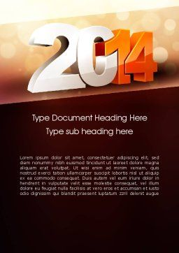 2014 Word Template, Cover Page, 11503, Holiday/Special Occasion — PoweredTemplate.com