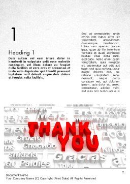 Thank You in Different Languages Word Template First Inner Page