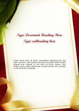 Beautiful Greeting Card Word template, Cover Page, 11508, Holiday/Special Occasion — PoweredTemplate.com