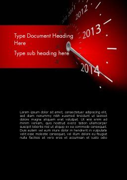 2014 Year Speedometer Word Template, Cover Page, 11509, Business Concepts — PoweredTemplate.com