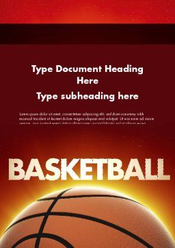 Basketball Planet Word Template, Cover Page, 11510, Sports — PoweredTemplate.com