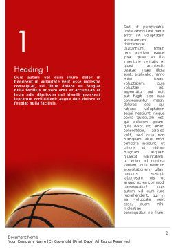 Basketball Planet Word Template, First Inner Page, 11510, Sports — PoweredTemplate.com