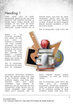 School Curriculum Word Template First Inner Page