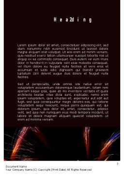 American Flag with Fireworks Word Template, Second Inner Page, 11512, Holiday/Special Occasion — PoweredTemplate.com