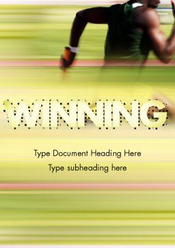 Sprinter Word Template, Cover Page, 11513, Sports — PoweredTemplate.com