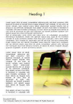 Sprinter Word Template, First Inner Page, 11513, Sports — PoweredTemplate.com