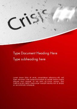 Erasing Crisis Word Template, Cover Page, 11516, Business Concepts — PoweredTemplate.com