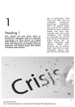 Erasing Crisis Word Template, First Inner Page, 11516, Business Concepts — PoweredTemplate.com