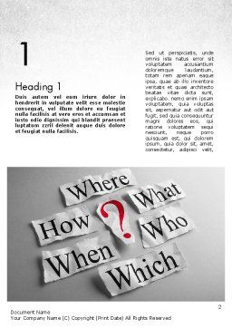 Curiosity Questions Word Template, First Inner Page, 11517, Business Concepts — PoweredTemplate.com