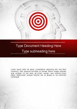 Shaped Human Head Maze with Target Word Template, Cover Page, 11518, Medical — PoweredTemplate.com