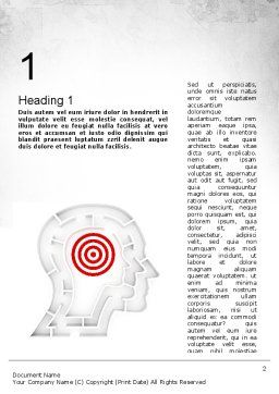 Shaped Human Head Maze with Target Word Template, First Inner Page, 11518, Medical — PoweredTemplate.com
