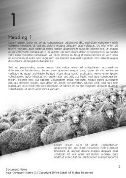 Flock of Sheep Word Template, First Inner Page, 11520, Agriculture and Animals — PoweredTemplate.com