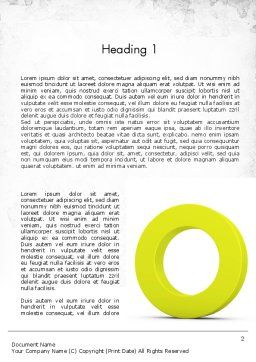 Light Green Zero Word Template, First Inner Page, 11521, Education & Training — PoweredTemplate.com