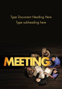 Project Meeting Word Template, Cover Page, 11526, Consulting — PoweredTemplate.com
